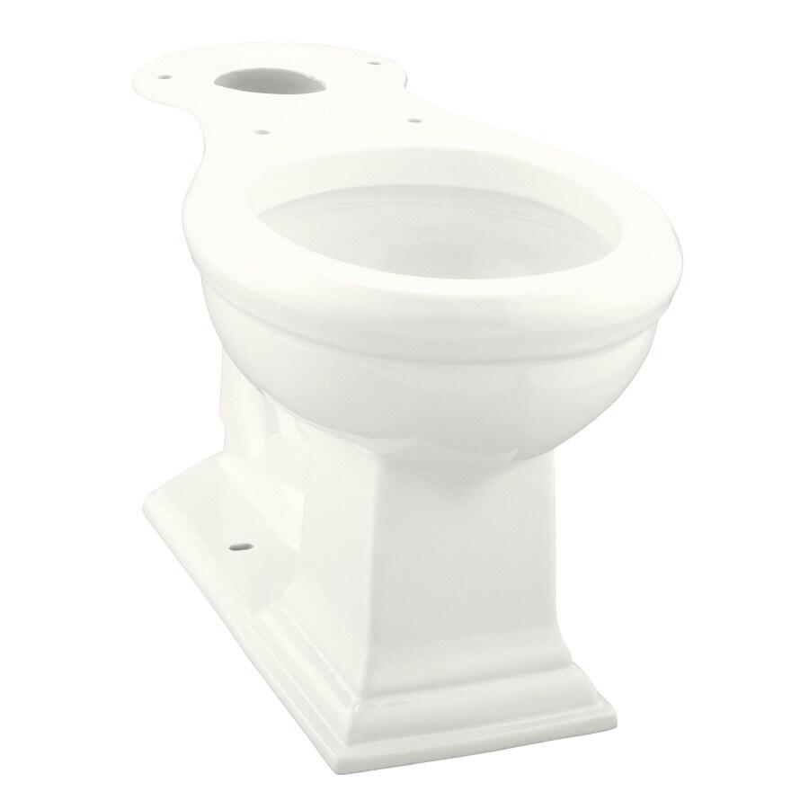 KOHLER Memoirs Chair Height White 12-in Rough-In Round Toilet Bowl