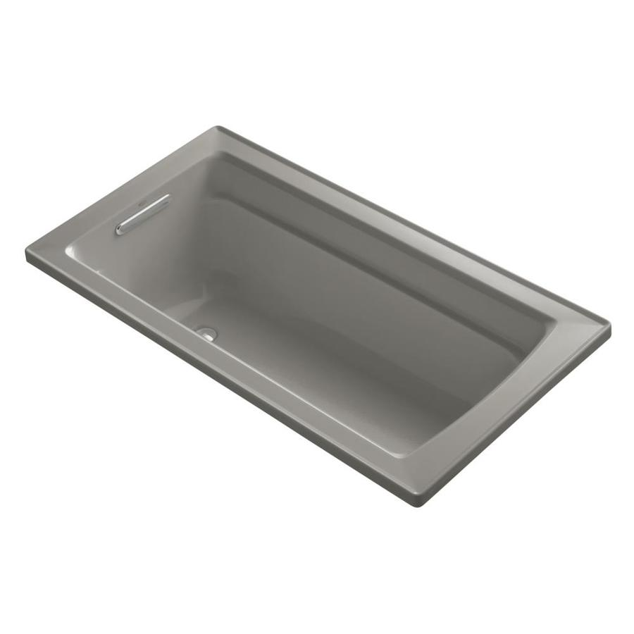 KOHLER Archer 60-in Cashmere Acrylic Drop-In Bathtub with Reversible Drain