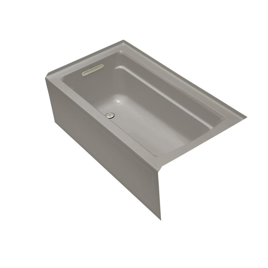 KOHLER Archer Cashmere Acrylic Rectangular Alcove Bathtub with Left-Hand Drain (Common: 32-in x 60-in; Actual: 19-in x 32-in x 60-in)