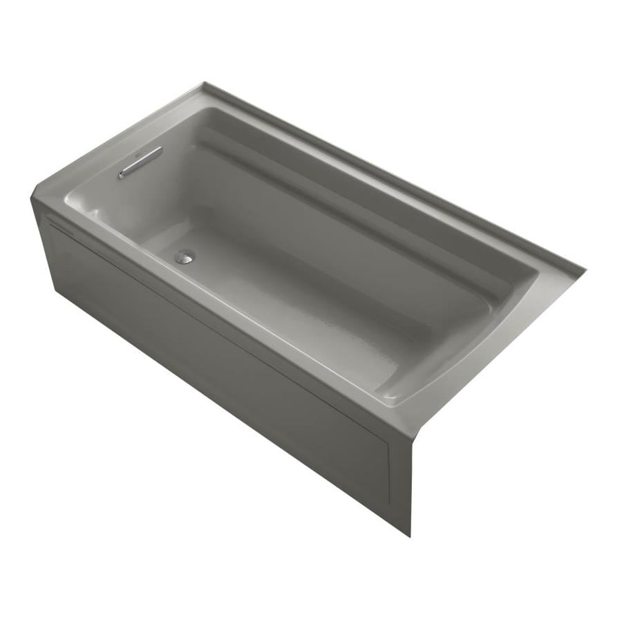 KOHLER Archer 72-in Cashmere Acrylic Alcove Bathtub with Left-Hand Drain