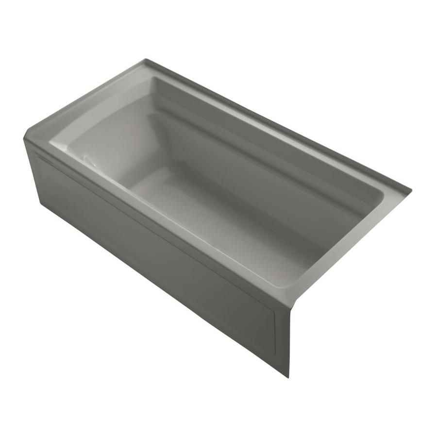 KOHLER Archer Cashmere Acrylic Rectangular Alcove Bathtub with Right-Hand Drain (Common: 36-in x 72-in; Actual: 19-in x 36-in x 72-in)