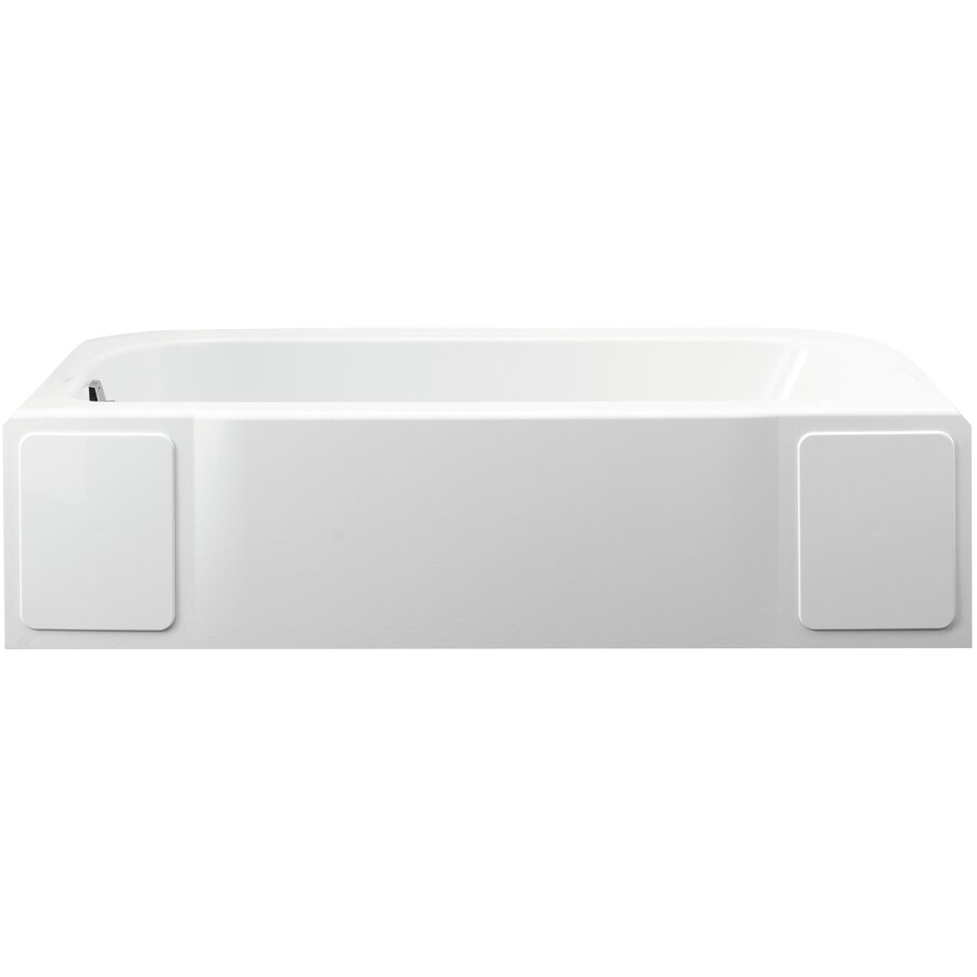 Sterling Accord 60-in White Vikrell Alcove Whirlpool Tub with Left-Hand Drain