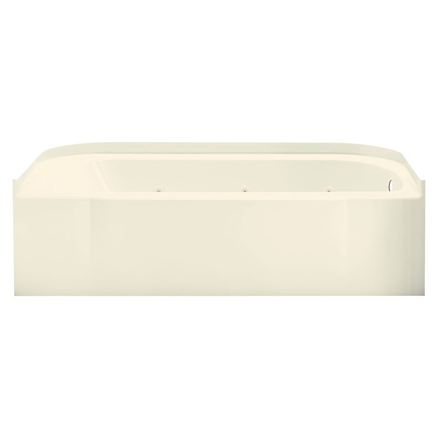 Sterling Accord Biscuit Fiberglass and Plastic Oval In Rectangle Whirlpool Tub (Common: 30-in x 60-in; Actual: 17-in x 31.25-in x 60.25-in)