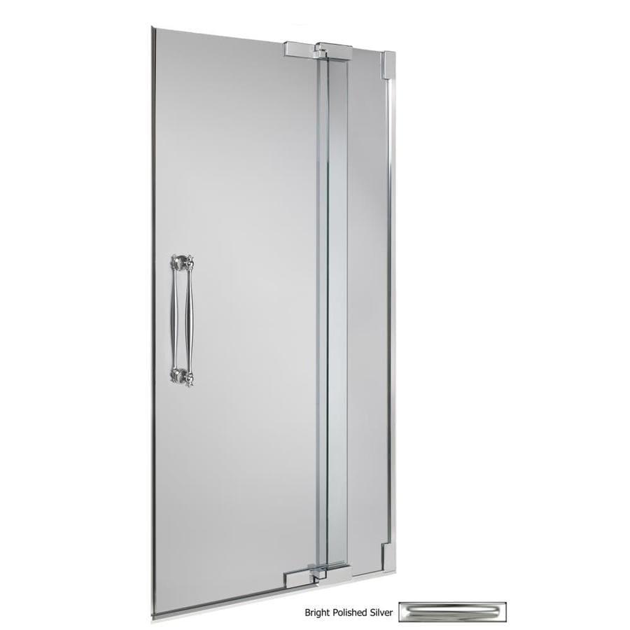 KOHLER Bright Polished Silver Frameless Pivot Shower Door
