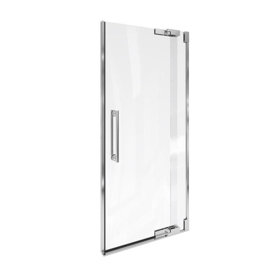 KOHLER Purist 30.25-in to 32.75-in Frameless Pivot Shower Door