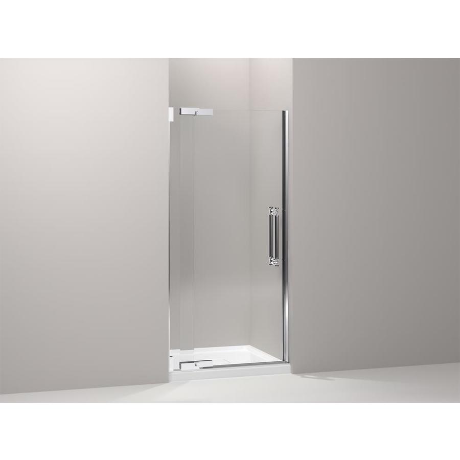 KOHLER Pinstripe 36.25-in to 38.75-in Frameless Pivot Shower Door