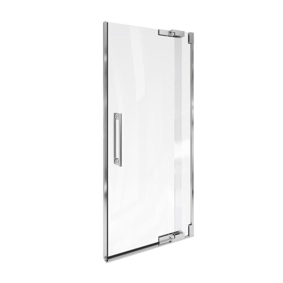 KOHLER Purist 33.25-in to 32.75-in Frameless Pivot Shower Door