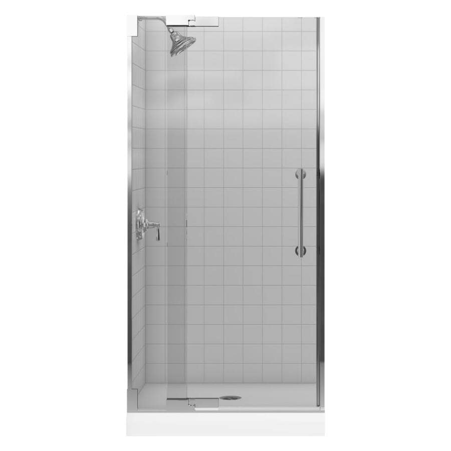 KOHLER Purist 33.25-in to 35.75-in Frameless Pivot Shower Door