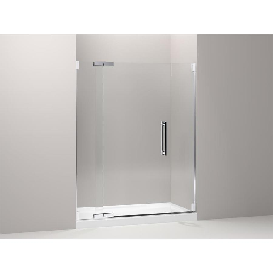 KOHLER Purist 57.25-in to 59.75-in Frameless Pivot Shower Door