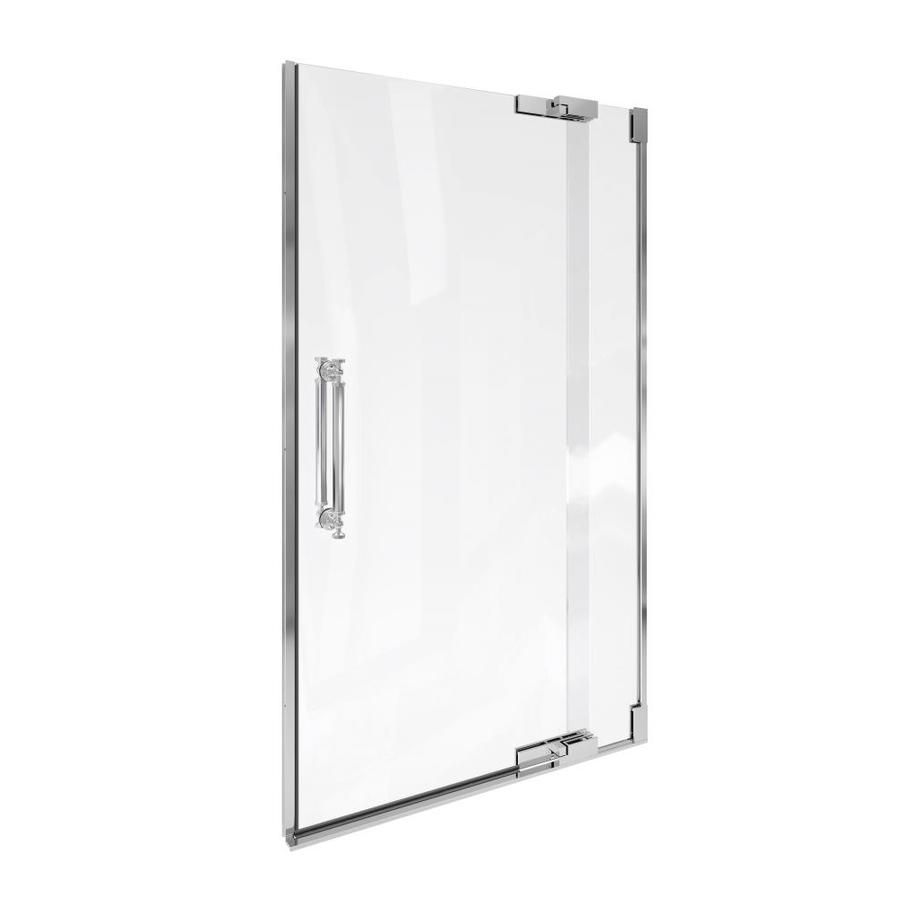 KOHLER Pinstripe 39.25-in to 41.75-in Frameless Pivot Shower Door