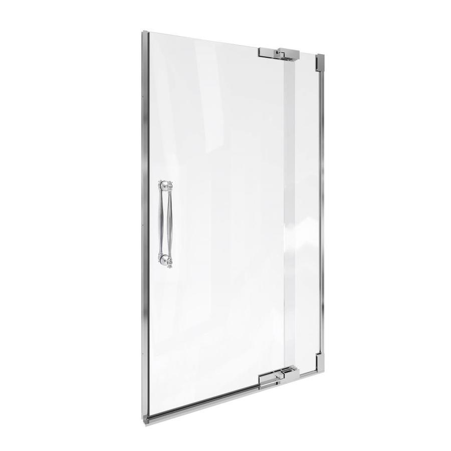 KOHLER Finial 45.25-in to 41.75-in Frameless Pivot Shower Door
