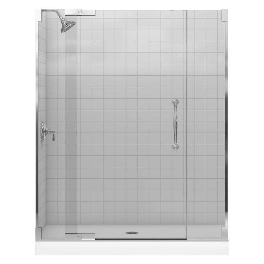 KOHLER Finial 28.8125-in to 59.75-in Frameless Pivot Shower Door