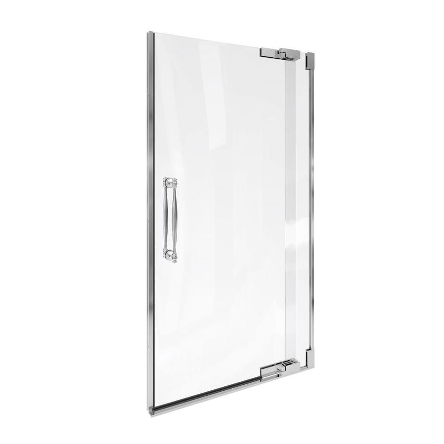 KOHLER Finial 36.25-in to 38.75-in Frameless Pivot Shower Door