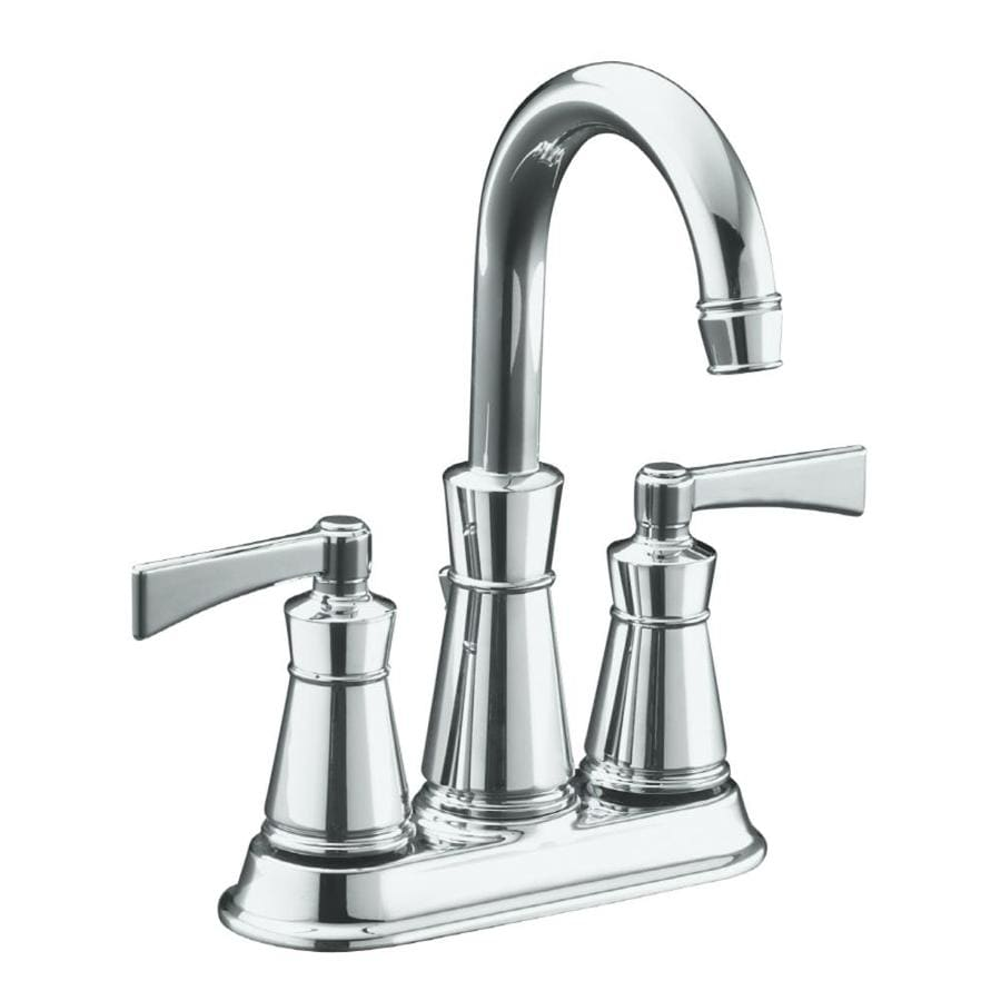 Shop KOHLER Archer Polished Chrome 2 Handle 4 In Centerset WaterSense Bathroo