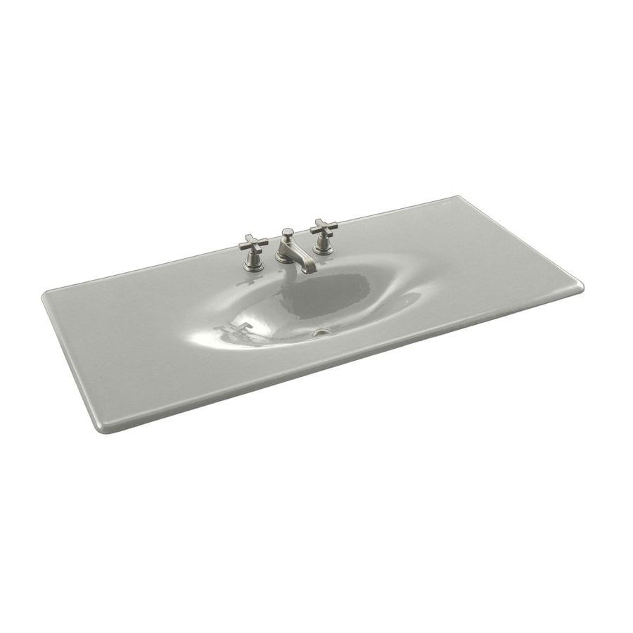 KOHLER Iron/Impressions Cane Sugar Cast Iron Drop-in Oval Bathroom Sink
