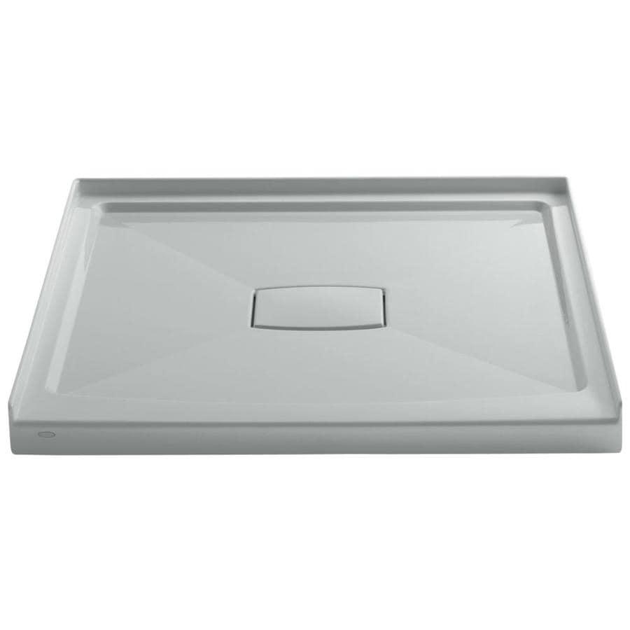 KOHLER Archer Ice Grey Acrylic Shower Base (Common: 42-in W x 42-in L; Actual: 42-in W x 42-in L)