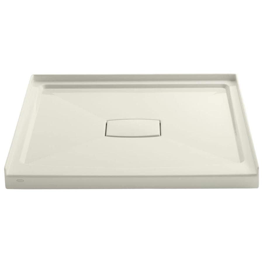 KOHLER Archer Biscuit Acrylic Shower Base (Common: 42-in W x 42-in L; Actual: 42-in W x 42-in L)