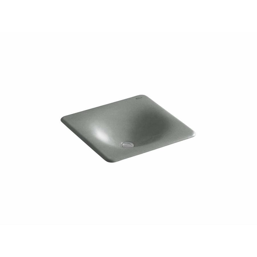 Shop Kohler Iron Tones Basalt Cast Iron Drop In Or Undermount Rectangular Bathroom Sink At