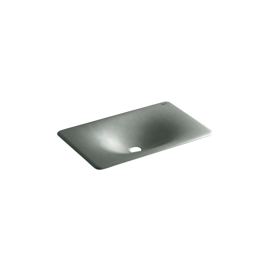 KOHLER Iron/Tones Basalt Cast Iron Drop-in Rectangular Bathroom Sink