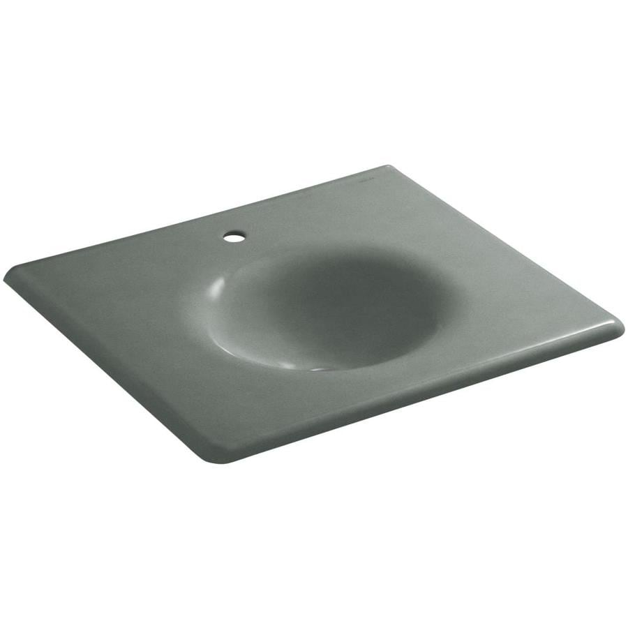 KOHLER Impressions Basalt Cast Iron Oval Bathroom Sink