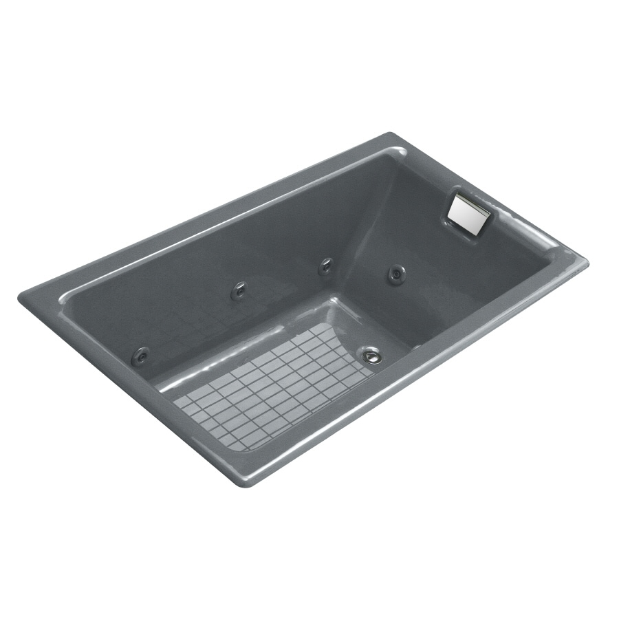 Shop KOHLER Cast Iron Rectangular Whirlpool Tub (Common: 36-in x 66 ...