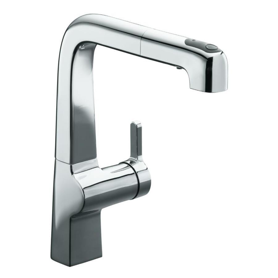 KOHLER Evoke Polished Chrome 1-Handle Pull-Out Kitchen Faucet