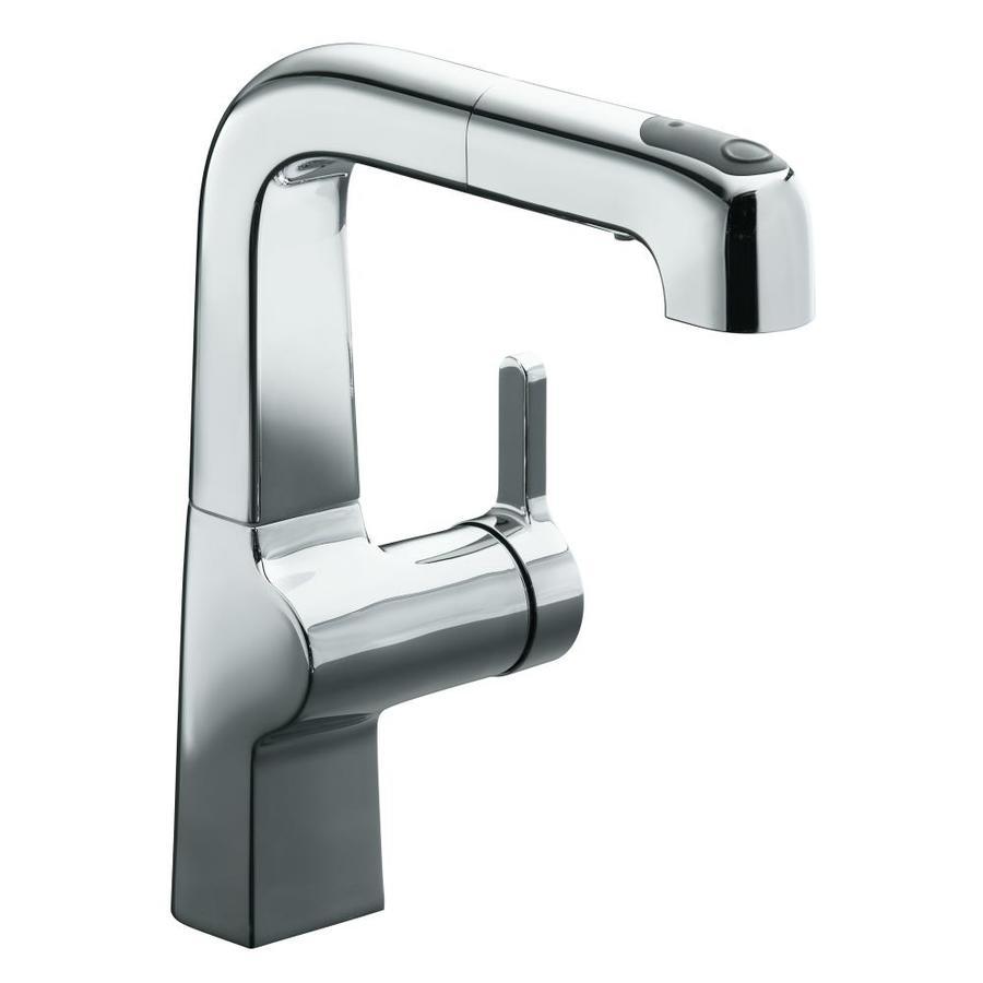 KOHLER Evoke Polished Chrome 1-Handle Bar and Prep Faucet