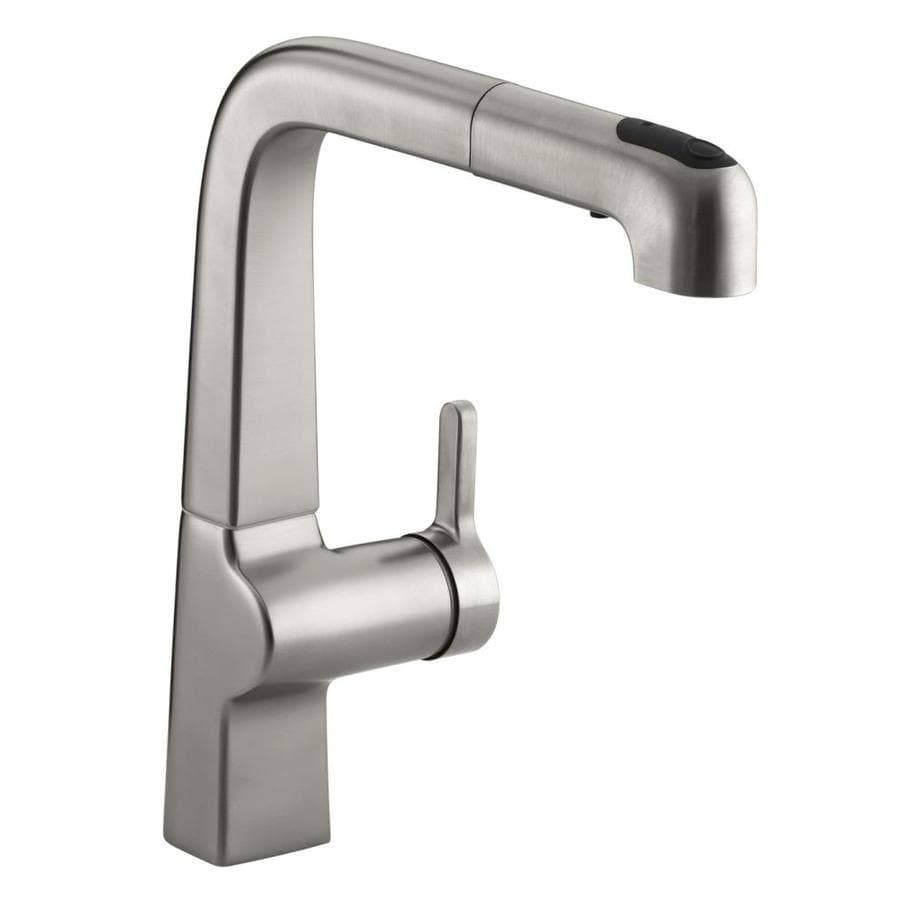 KOHLER Evoke Vibrant Stainless 1-Handle Pull-Out Kitchen Faucet