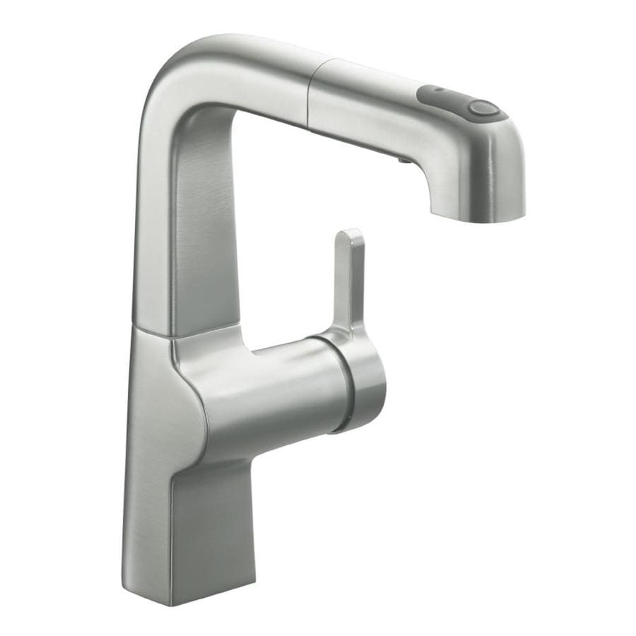 KOHLER Evoke Vibrant Stainless 1-Handle Bar and Prep Faucet