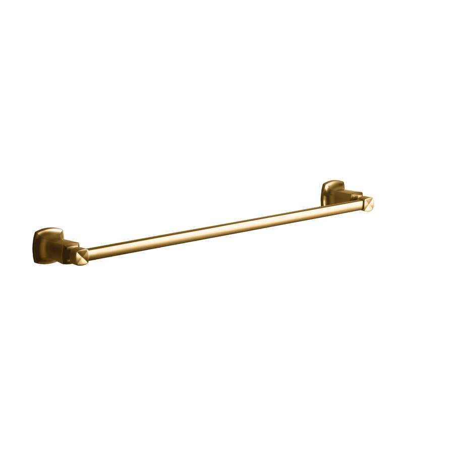 KOHLER Margaux Vibrant Brushed Bronze Single Towel Bar (Common: 24-in; Actual: 26.125-in)