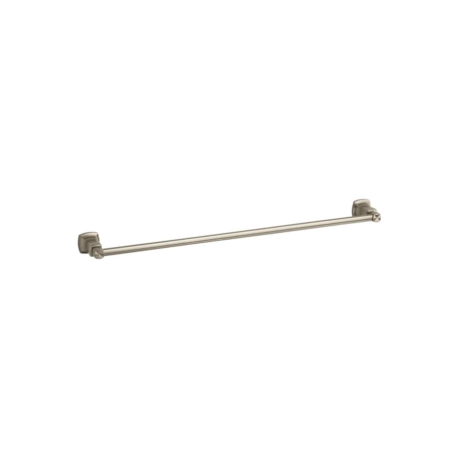 KOHLER Margaux Vibrant Brushed Bronze Single Towel Bar (Common: 30-in; Actual: 32.125-in)