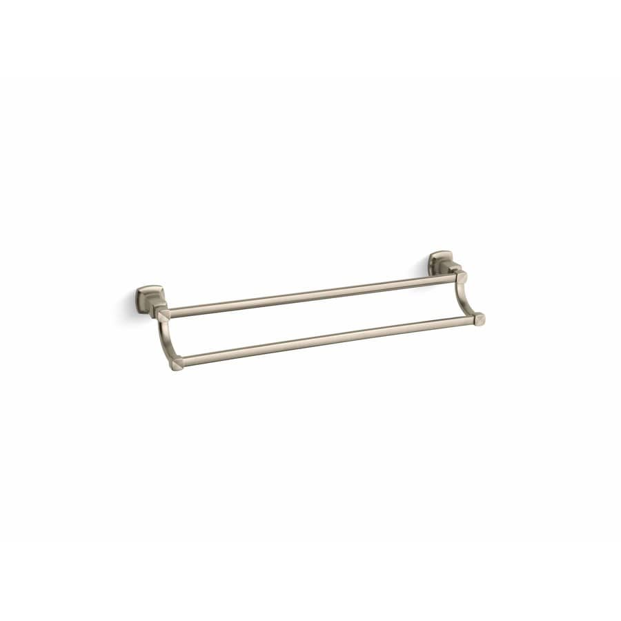 KOHLER Margaux Vibrant Brushed Bronze Double Towel Bar (Common: 24-in; Actual: 26.125-in)