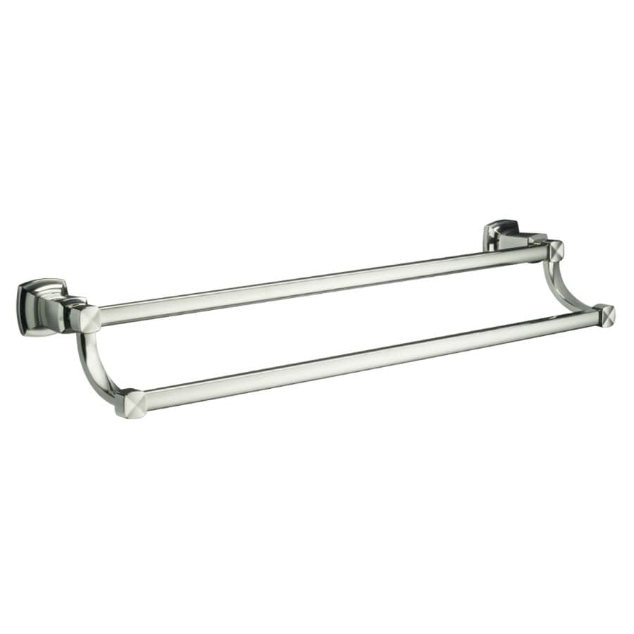KOHLER Margaux Vibrant Polished Nickel Double Towel Bar (Common: 24-in; Actual: 26.125-in)