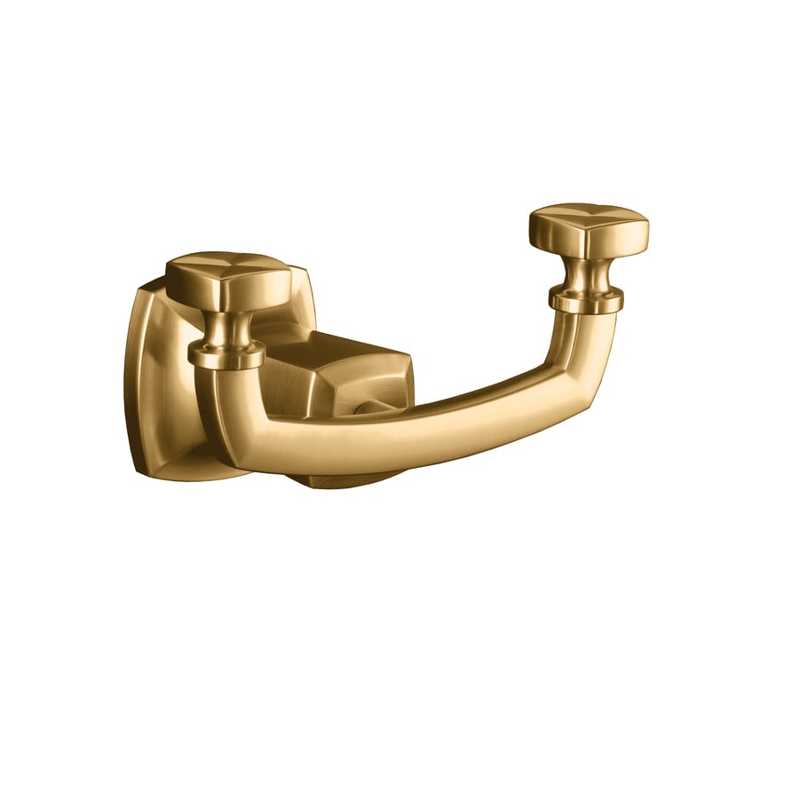 KOHLER Margaux 2-Hook Vibrant Brushed Bronze Robe Hook