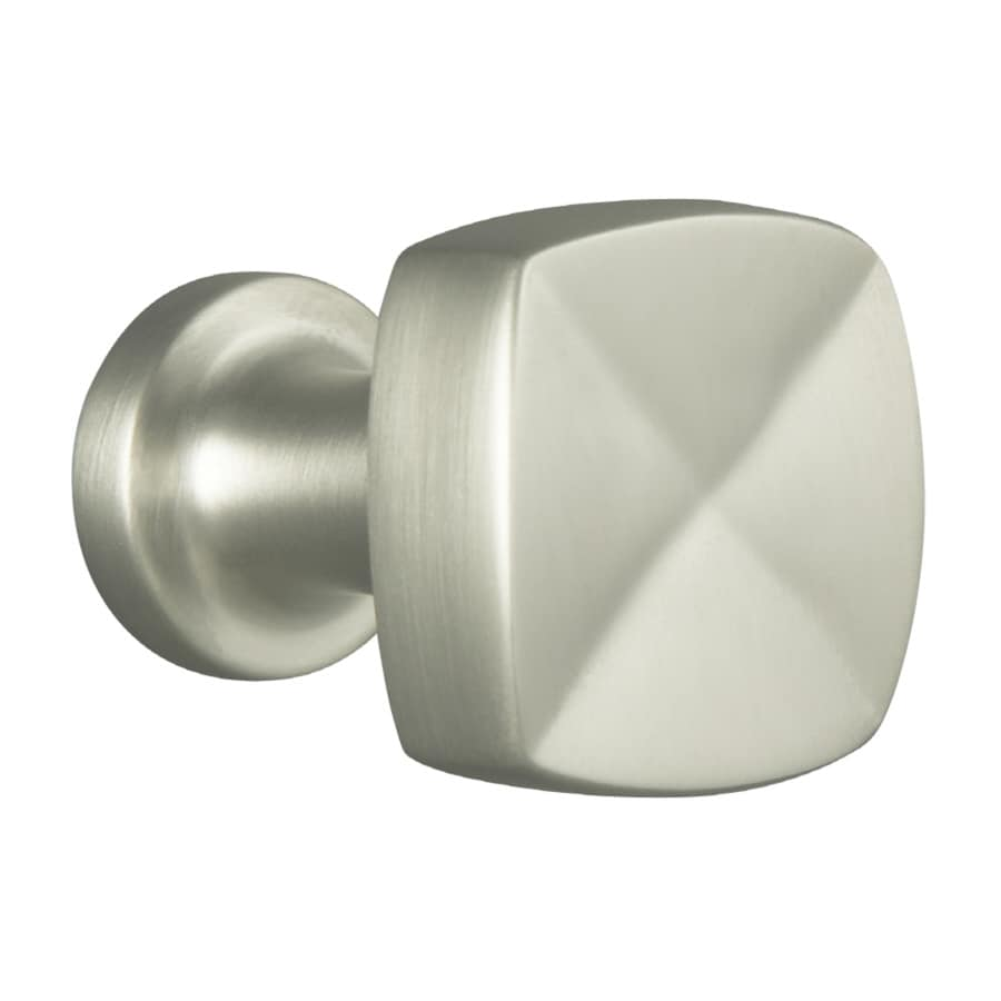 KOHLER Margaux Vibrant Brushed Nickel Square Cabinet Knob