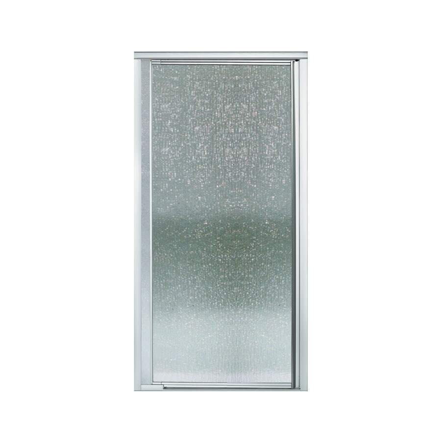 Sterling Vista Pivot II 31.25-in to 36-in W Framed Silver Pivot Shower Door