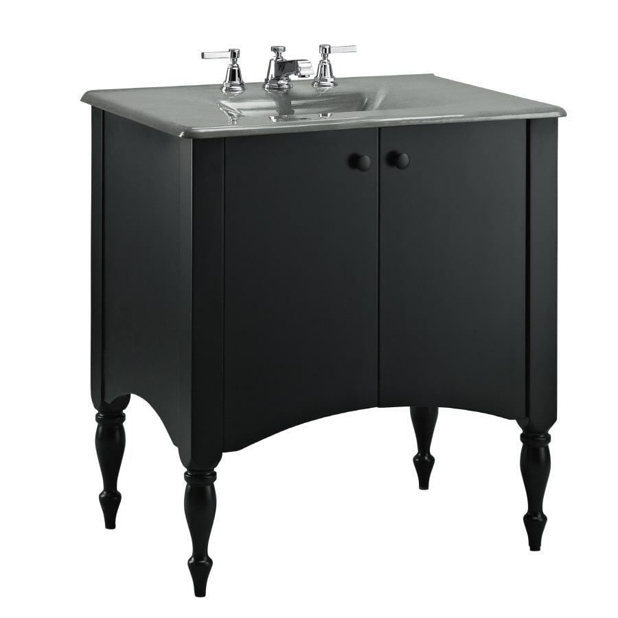 shop kohler alberry cinder 24 in traditional bathroom vanity at