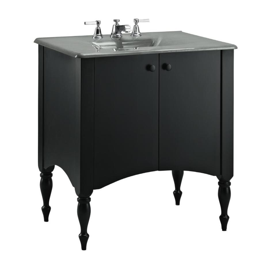 KOHLER Alberry 30-in Cinder Bathroom Vanity Cabinet At