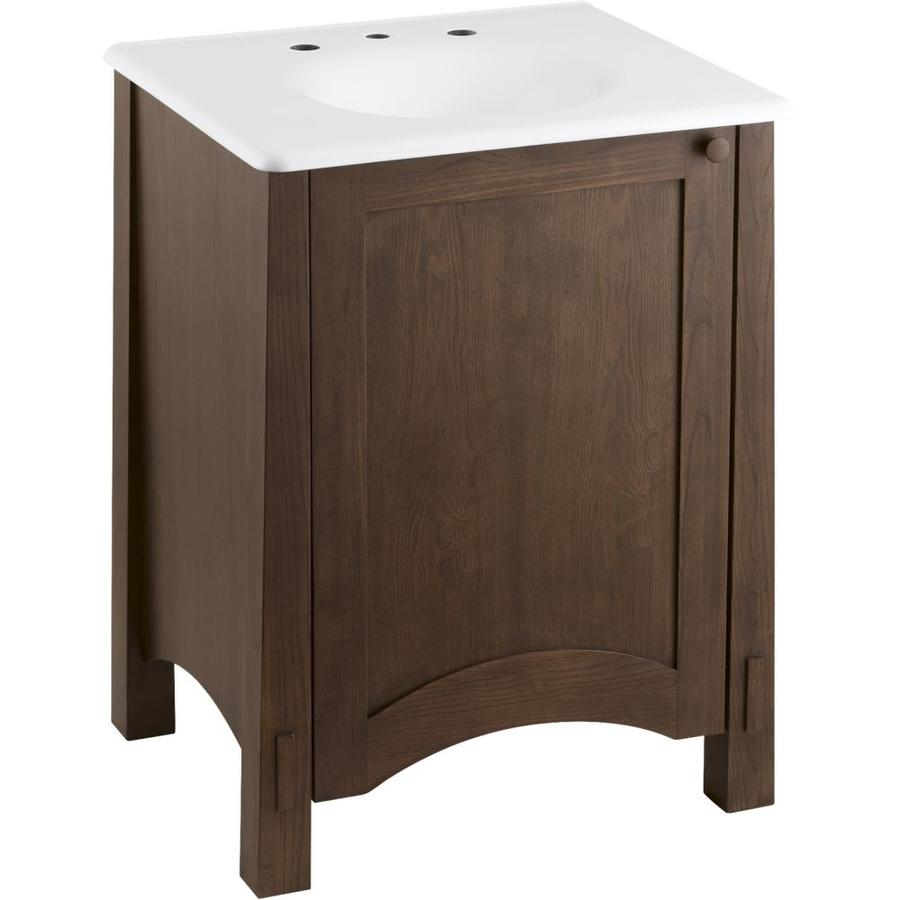 shop kohler westmore westwood bathroom vanity common 24 in x 22 in actual 24 in x 21 5 in. Black Bedroom Furniture Sets. Home Design Ideas