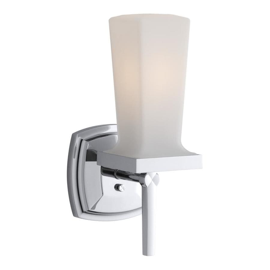 KOHLER Margaux 4.87-in W 1-Light Polished Chrome Arm Hardwired Wall Sconce