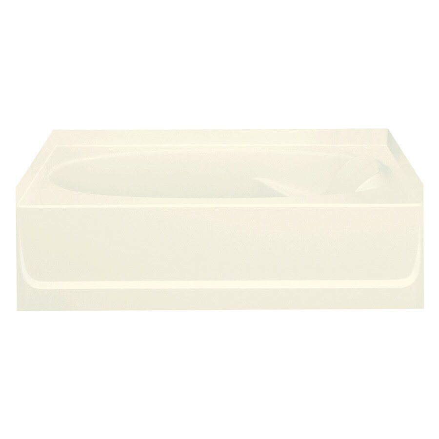 Sterling Ensemble 60.25-in Biscuit Vikrell Alcove Bathtub with Left-Hand Drain