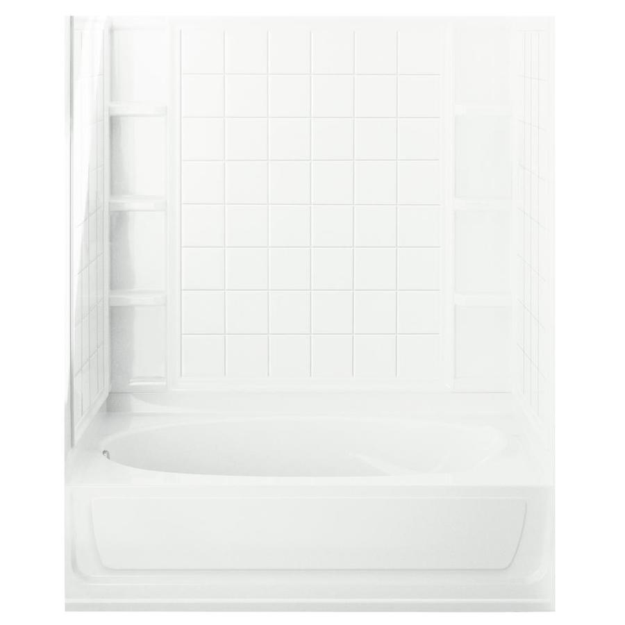 Sterling Ensemble AFD White 4-Piece Alcove Shower Kit (Common: 36-in x 60-in; Actual: 74.25-in x 36-in x 60-in)
