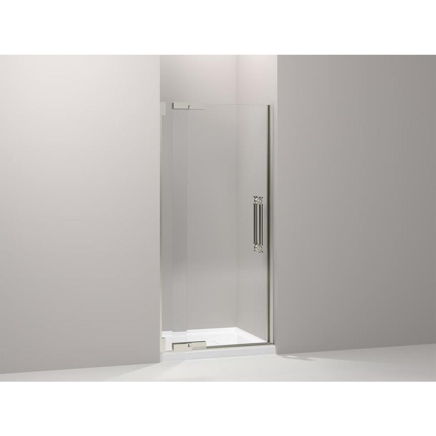 KOHLER Pinstripe 33.25-in to 36.75-in Frameless Pivot Shower Door