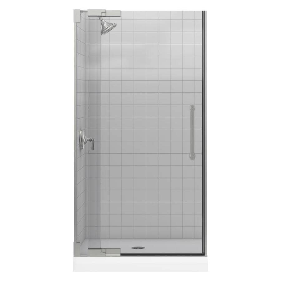 KOHLER Purist 36.25-in to 38.75-in Frameless Pivot Shower Door