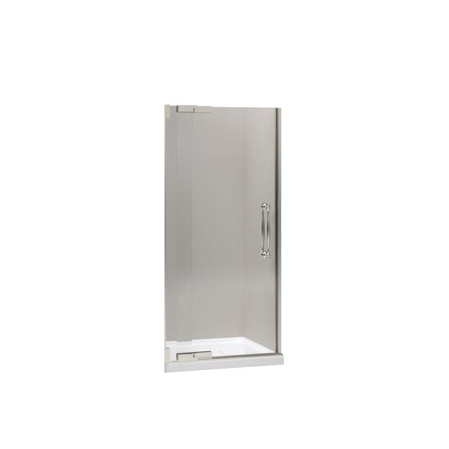 KOHLER Finial 36.25-in to 38.75-in Frameless Pivot Shower Door