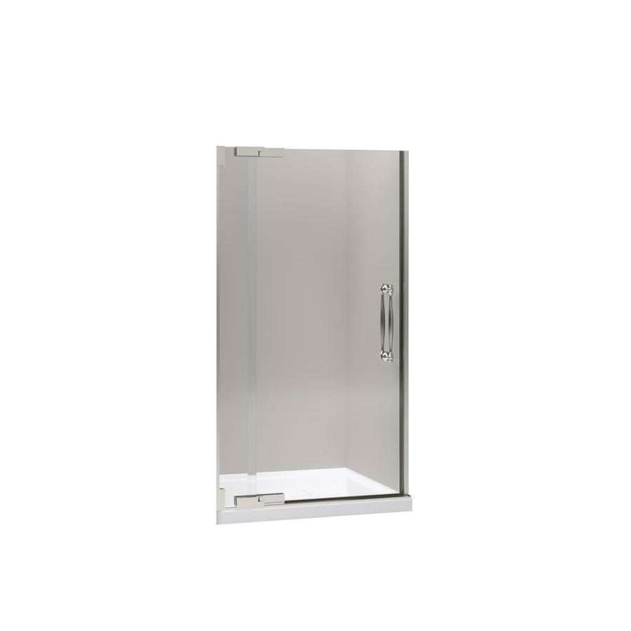 KOHLER Finial 39.25-in to 41.75-in Frameless Pivot Shower Door