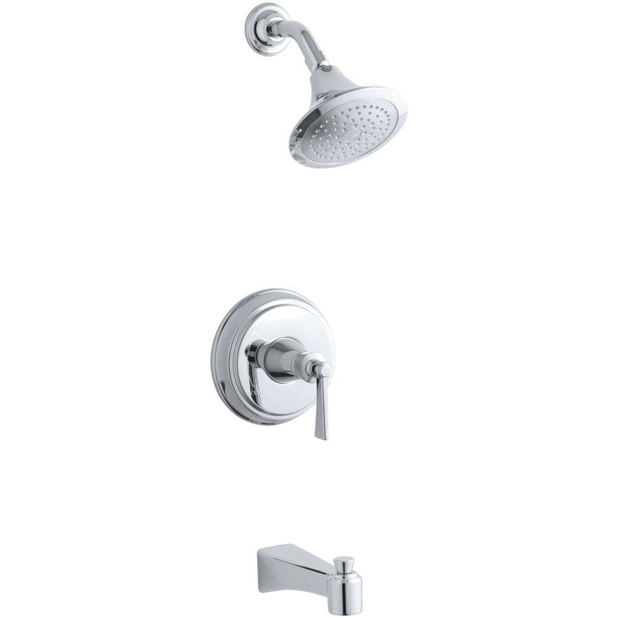 Shop KOHLER Archer Polished Chrome 1-Handle Bathtub and Shower ...