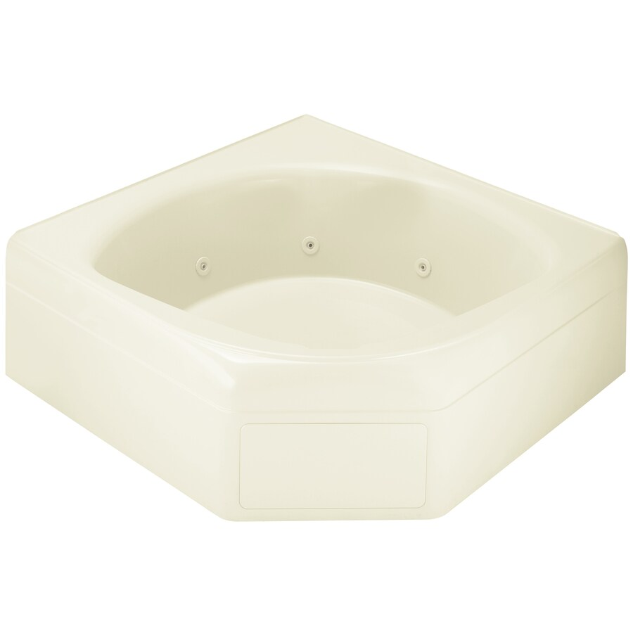 Sterling Ensemble 60-in Biscuit Vikrell Alcove Whirlpool Tub with Center Drain