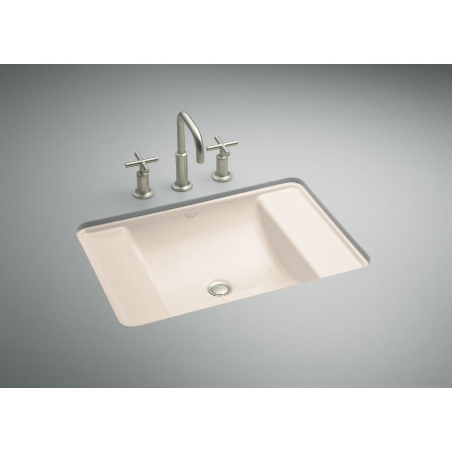 KOHLER Ledges Innocent Blush Cast Iron Bath Sink