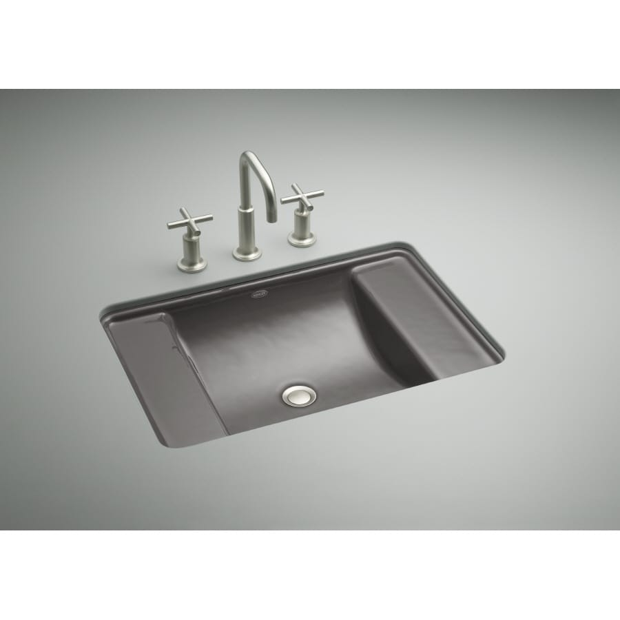 KOHLER Ledges Thunder Grey Cast Iron Bath Sink